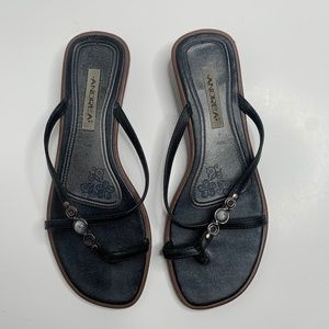 Andrea | Black Strap Wedge Heel